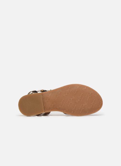 Sandales et nu-pieds Pepe jeans March Basic Metal Or et bronze vue haut