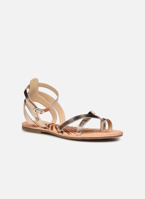 Sandales et nu-pieds Pepe jeans March Basic Metal Or et bronze vue détail/paire