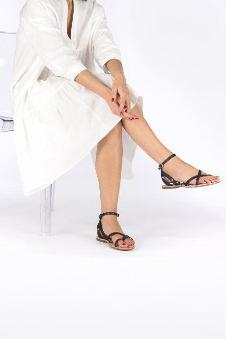 Sandales et nu-pieds Pepe jeans March Basic Noir vue bas / vue portée sac