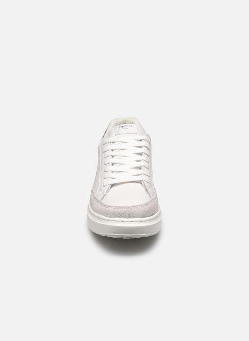 Baskets Pepe jeans Abbey Lines Blanc vue portées chaussures