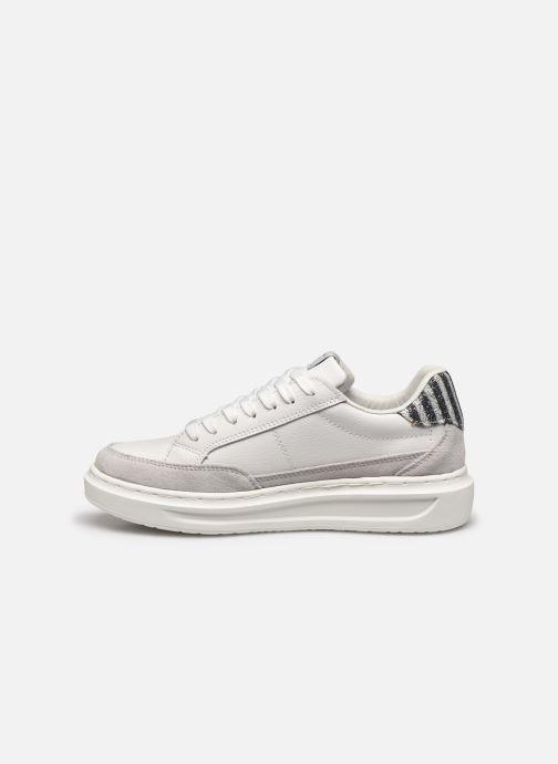 Pepe jeans Abbey Lines (Blanc) - Baskets chez Sarenza (421537)