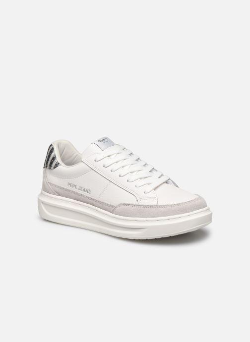 Baskets Pepe jeans Abbey Lines Blanc vue détail/paire
