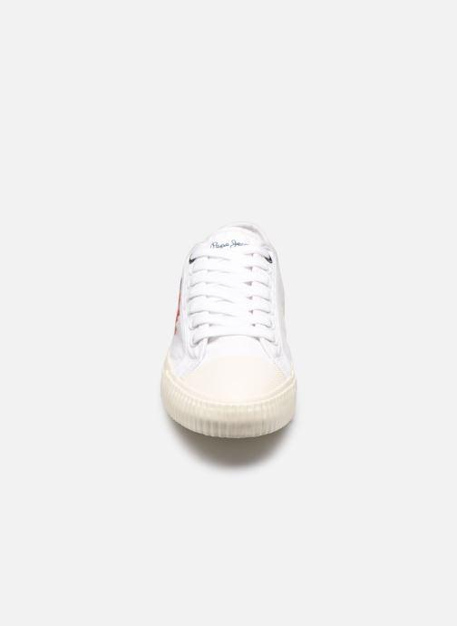 Sneaker Pepe jeans Malibu Summer weiß schuhe getragen
