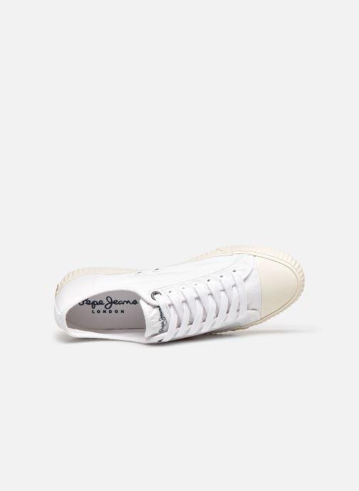 Sneaker Pepe jeans Malibu Summer weiß ansicht von links
