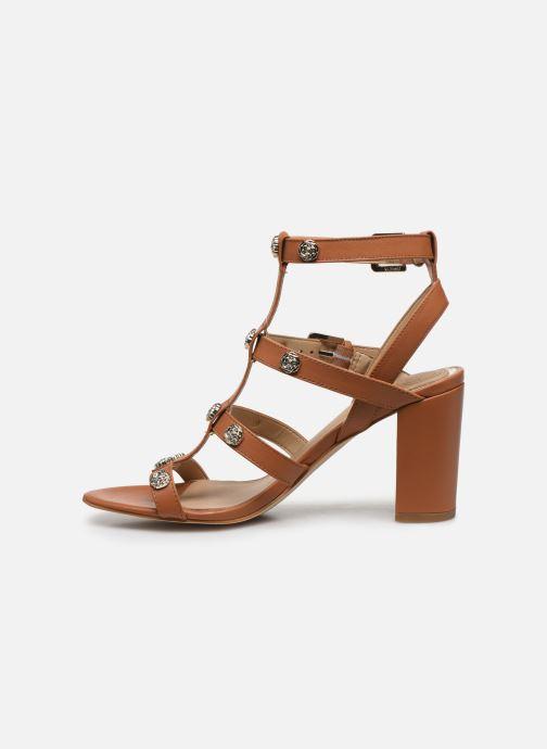 Sandales et nu-pieds Guess MAGALE Marron vue face