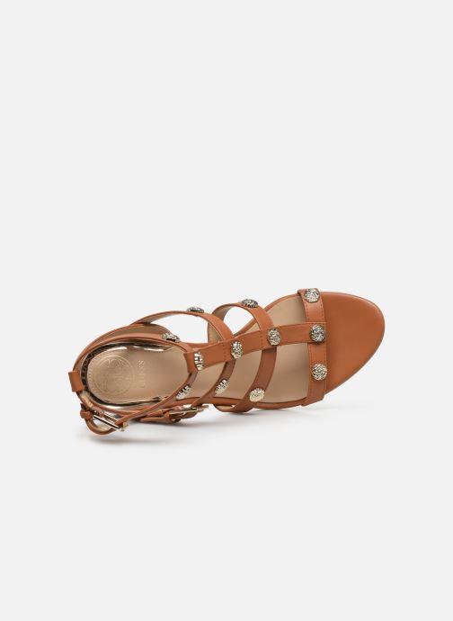 Sandales et nu-pieds Guess MAGALE Marron vue gauche