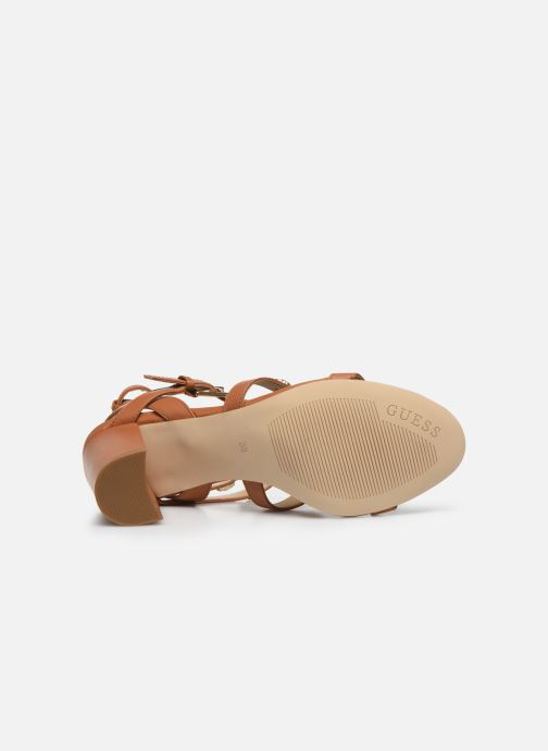 Sandali e scarpe aperte Guess MAGALE Marrone immagine dall'alto