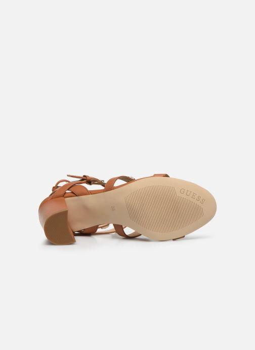 Sandales et nu-pieds Guess MAGALE Marron vue haut