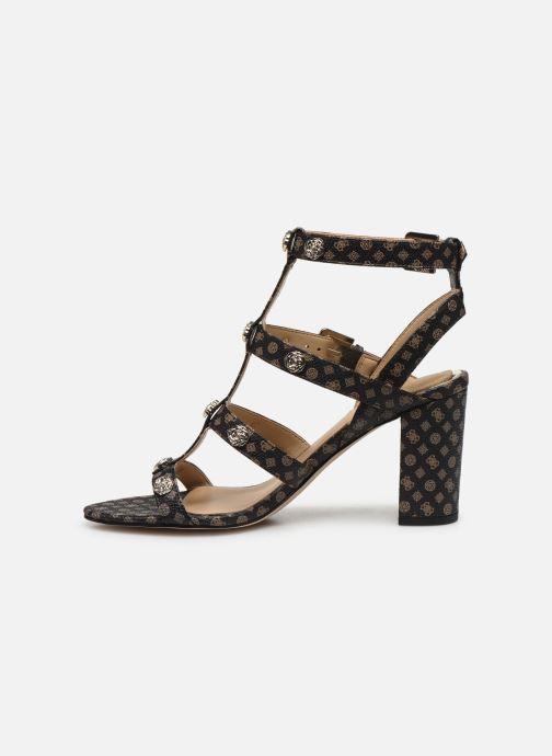 Sandales et nu-pieds Guess MAGALE2 Marron vue face