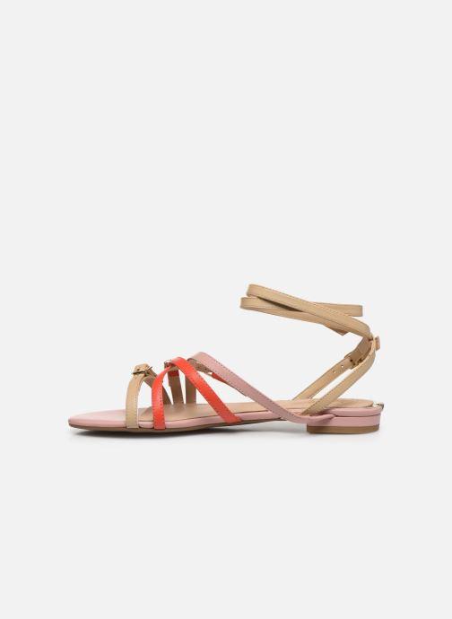 Sandales et nu-pieds Guess REGALO Beige vue face
