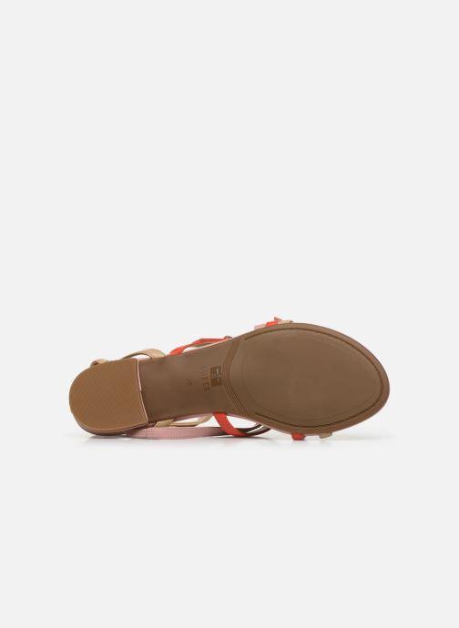 Sandales et nu-pieds Guess REGALO Beige vue haut