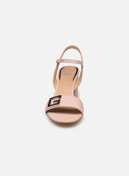 Sandalen Guess MACK rosa schuhe getragen