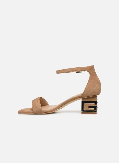 Sandalen Guess MAEVA braun ansicht von vorne