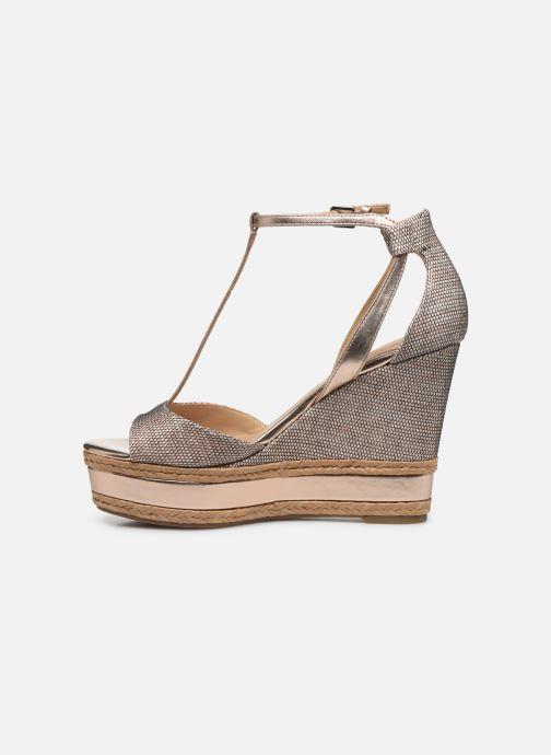 Sandales et nu-pieds Guess GACE Or et bronze vue face