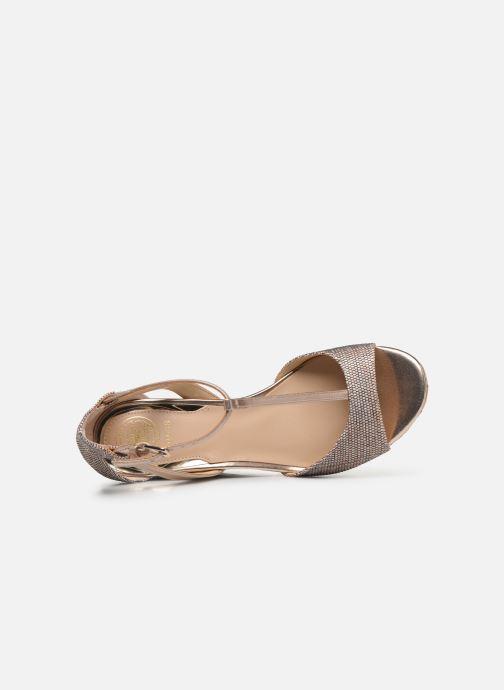 Sandales et nu-pieds Guess GACE Or et bronze vue gauche