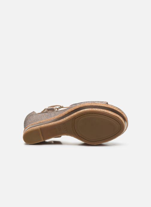 Sandales et nu-pieds Guess GACE Or et bronze vue haut