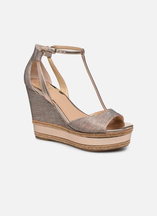 Sandales et nu-pieds Guess GACE Or et bronze vue détail/paire