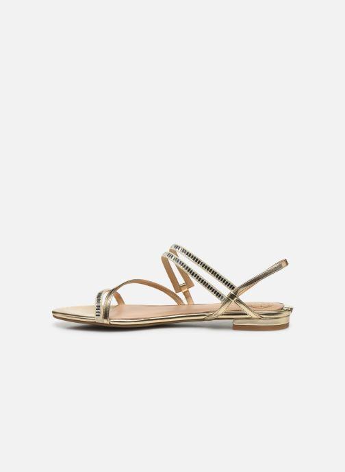 Sandales et nu-pieds Guess RAVENA Or et bronze vue face