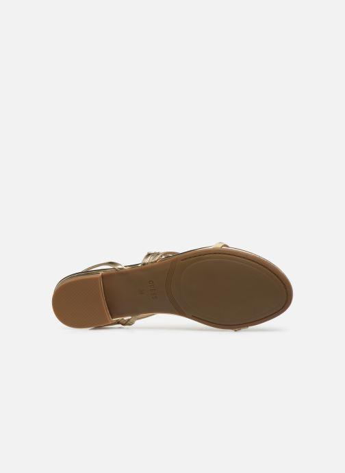 Sandales et nu-pieds Guess RAVENA Or et bronze vue haut
