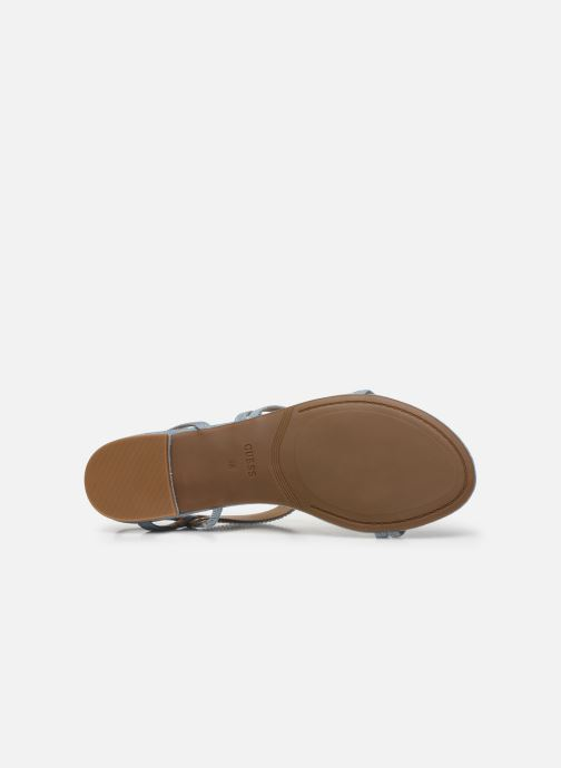 Sandales et nu-pieds Guess RAVENA Bleu vue haut