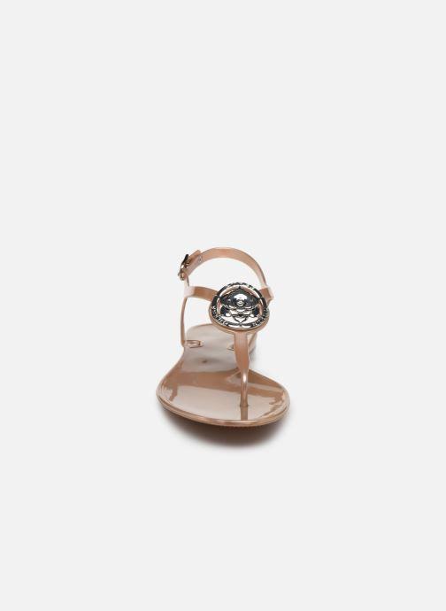 Sandales et nu-pieds Guess JAXX Or et bronze vue portées chaussures