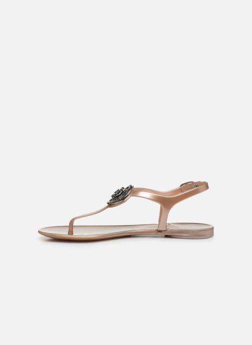 Sandales et nu-pieds Guess JAXX Or et bronze vue face