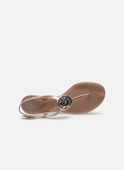 Sandales et nu-pieds Guess JAXX Or et bronze vue gauche