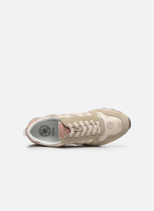 Sneakers Guess ARIEL Beige immagine sinistra