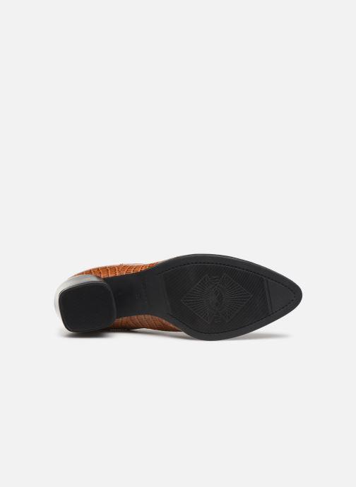 Boots en enkellaarsjes Vagabond Shoemakers LARA CROCO Bruin boven
