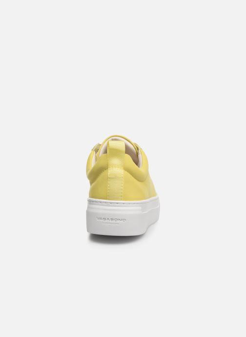 Baskets Vagabond Shoemakers ZOE PLATFORM Jaune vue droite