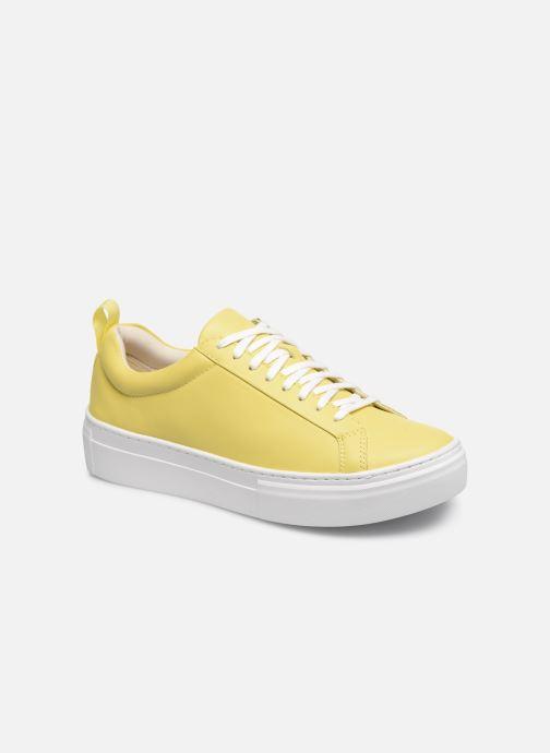 Baskets Vagabond Shoemakers ZOE PLATFORM Jaune vue détail/paire