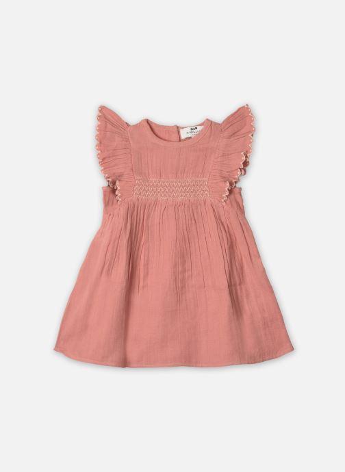 Vêtements Cyrillus Robe midi Estefania Rose vue détail/paire