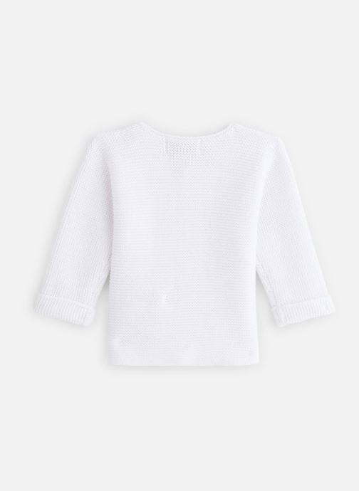 Vêtements Cyrillus Gilet Evan Blanc vue bas / vue portée sac
