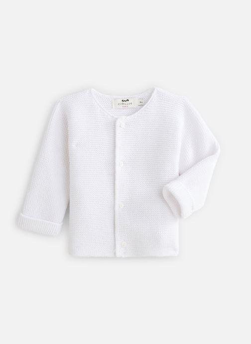 Vêtements Cyrillus Gilet Evan Blanc vue détail/paire