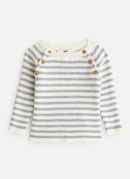 Vêtements Cyrillus Pull Etan Blanc vue détail/paire