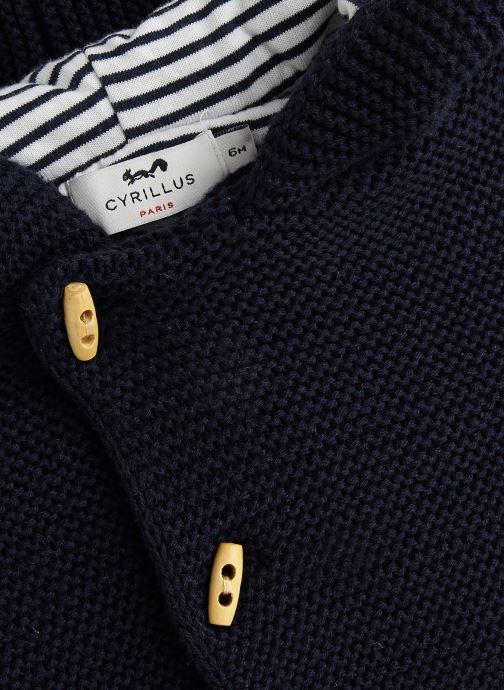 Vêtements Cyrillus Gilet Eudon Bleu vue portées chaussures