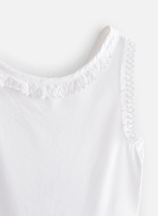 Vêtements Cyrillus Robe midi Flore Blanc vue portées chaussures
