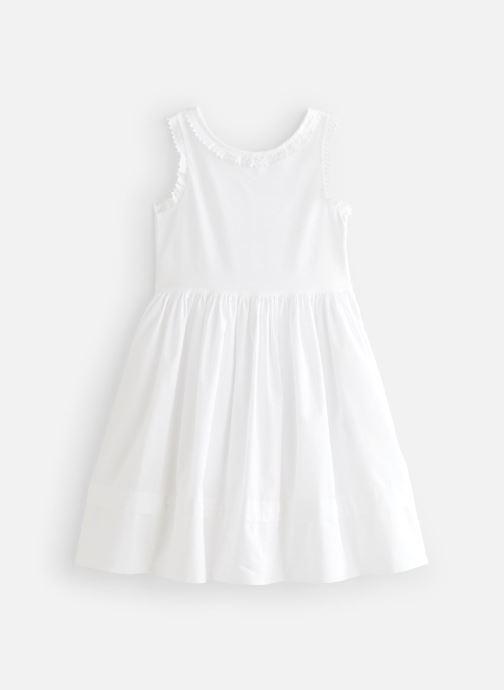 Vêtements Cyrillus Robe midi Flore Blanc vue détail/paire