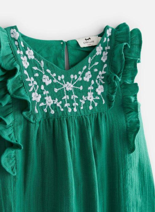 Vêtements Cyrillus Robe midi Framboise Vert vue portées chaussures