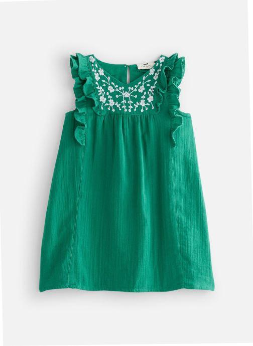 Vêtements Cyrillus Robe midi Framboise Vert vue détail/paire