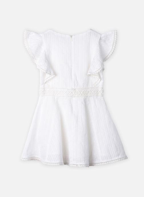Vêtements Cyrillus Robe midi Fozia Blanc vue portées chaussures