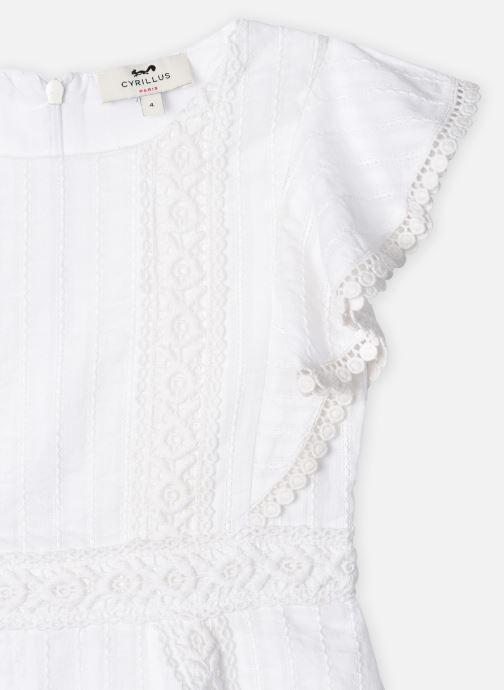 Vêtements Cyrillus Robe midi Fozia Blanc vue face