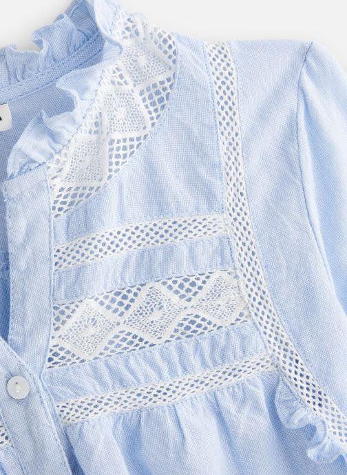 Vêtements Cyrillus Blouse Fiorina Bleu vue portées chaussures