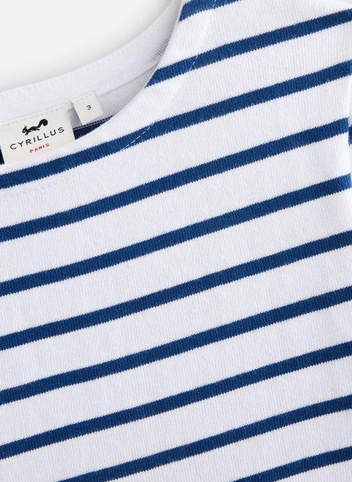 Vêtements Cyrillus T-shirt Goulven Bleu vue portées chaussures