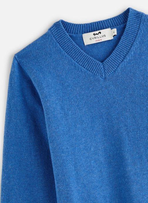 Vêtements Cyrillus Pull Gito Bleu vue portées chaussures