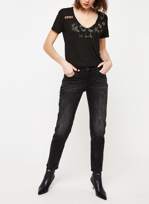 Vêtements IKKS Women Tee-Shirt BQ10015 Noir vue bas / vue portée sac
