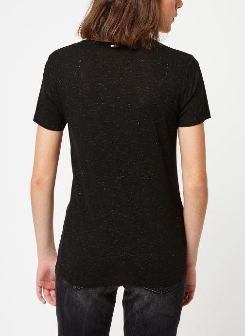Vêtements IKKS Women Tee-Shirt BQ10015 Noir vue portées chaussures