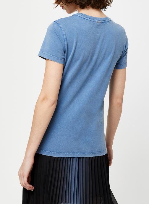 Vêtements IKKS Women Tee-Shirt BQ10065 Bleu vue portées chaussures