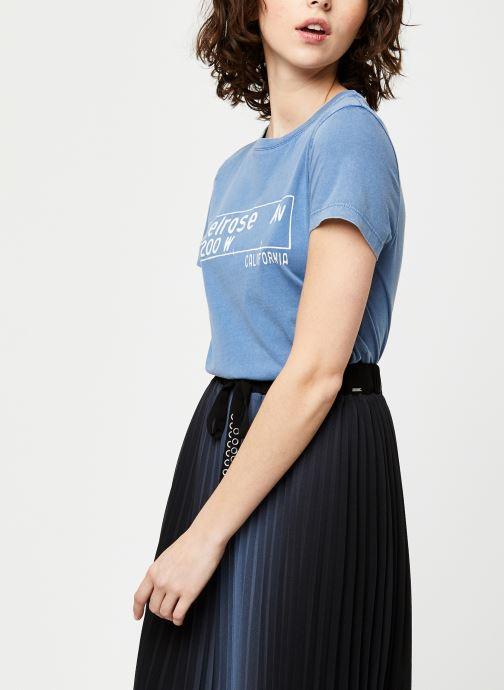 Vêtements IKKS Women Tee-Shirt BQ10065 Bleu vue détail/paire