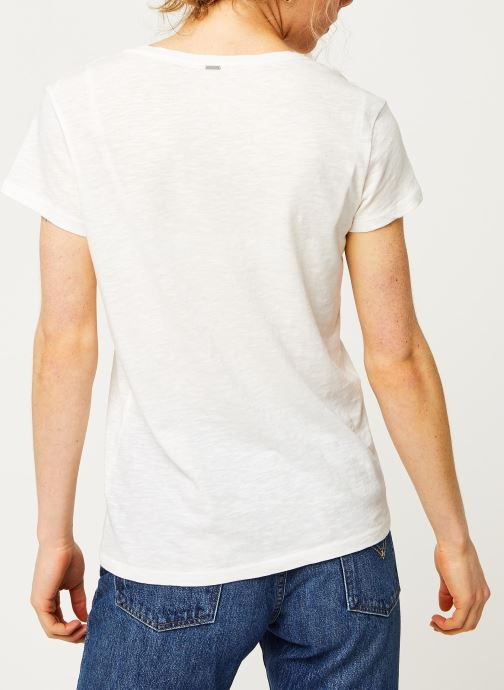Kleding IKKS Women Tee-Shirt BQ10295 Wit model